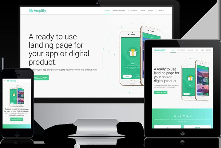 Amplify - Responsive Mobile App Landing Page Theme