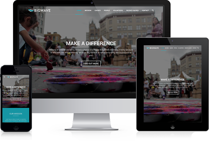 Big Wave - One Page Parallax, Sections Scroll & Responsive Theme by Propeller
