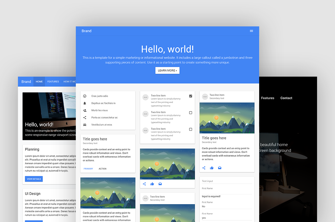 Bootstrap Starter Template by Propeller