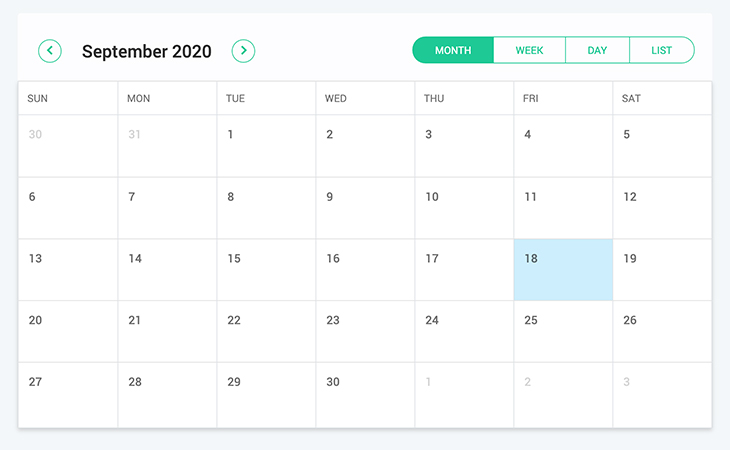 calendar-component - Third Party Component using Full Calendar JS