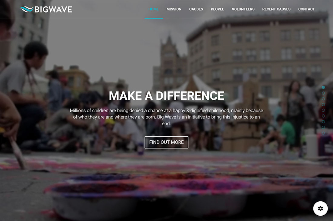 Big Wave WordPress Theme by Propeller